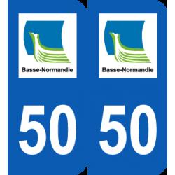 Département 50 Manche ancien logo région basse normandie