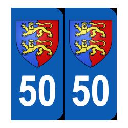 Département 50 Manche blason logo région basse normandie