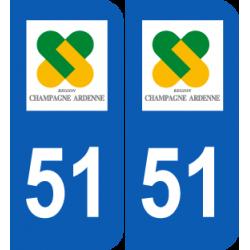 Département 51 Marne ancien logo région champagne ardenne
