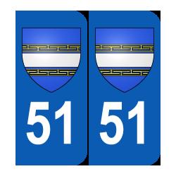 Département 51 Marne blason logo région champagne ardenne