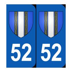 Département 52 Haute Marne blason logo région champagne ardenne
