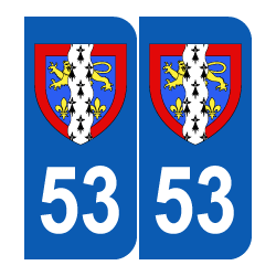 Département 53 Mayenne blason région pays de la loire
