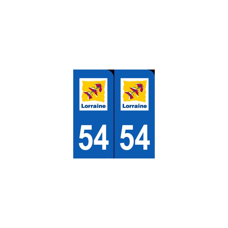 Département 54 Meurthe et Moselle ancien logo région lorraine