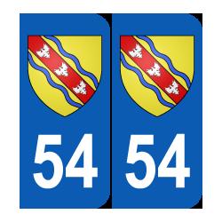 Département 54 Meurthe et Moselle blason logo région lorraine