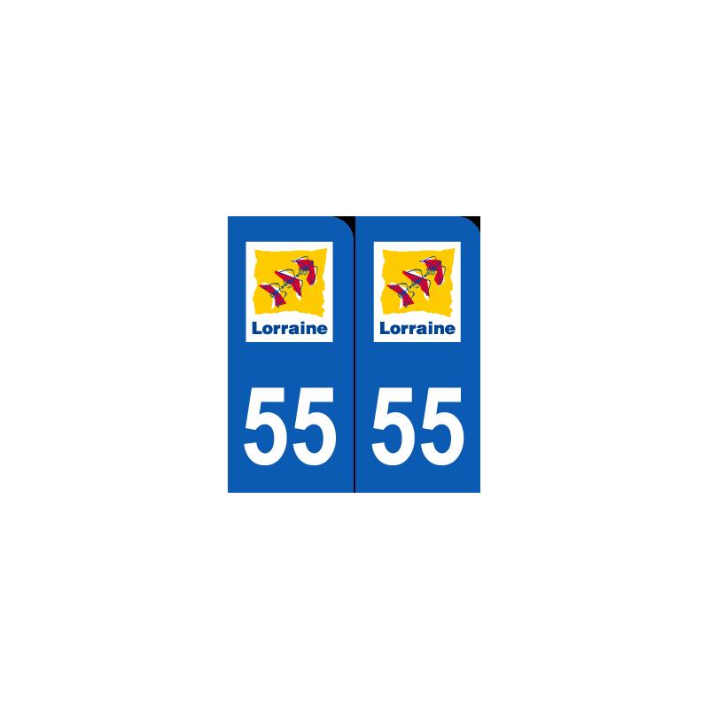 Département 55 Meuse ancien logo region lorraine