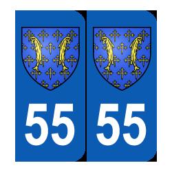 Département 55 Meuse blason logo region lorraine