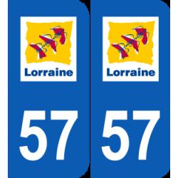 Département 57 Moselle ancien logo région lorraine