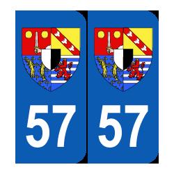 Département 57 Moselle blason logo région lorraine