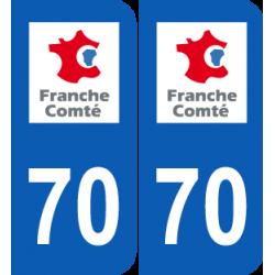 Département 70 Haute Saône ancien logo franche comté