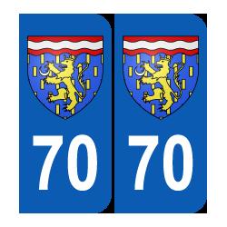 Département 70 Haute Saône blason logo franche comté
