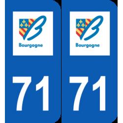 Département 71 Saône et Loire ancien logo région bourgogne