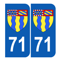 Département 71 Saône et Loire blason logo région bourgogne