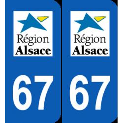 Département 67 Bas Rhin ancien logo région alsace