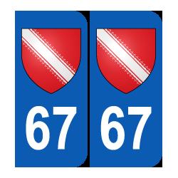 Département 67 Bas Rhin blason logo région alsace
