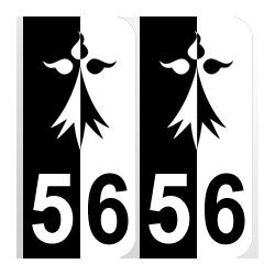 Département blason 56 Morbihan région bretagne hermine
