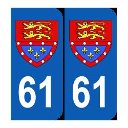 Département 61 Orne blason logo basse normandie