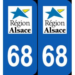 Département 68 Haut Rhin ancien logo région alsace