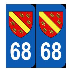 Département 68 Haut Rhin blason logo région alsace