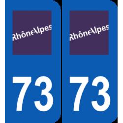 Département 73 Savoie ancien logo région rhone alpes