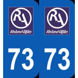 autocollant Département 73 Savoie ancien logo région rhone alpes