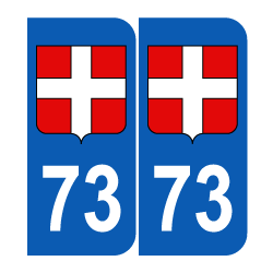 autocollant blason Département 73 croix de Savoie région rhone alpes