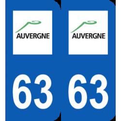 Département 63 Puy de Dôme ancien logo région auvergne