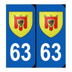 Département 63 Puy de Dôme blason logo région auvergne