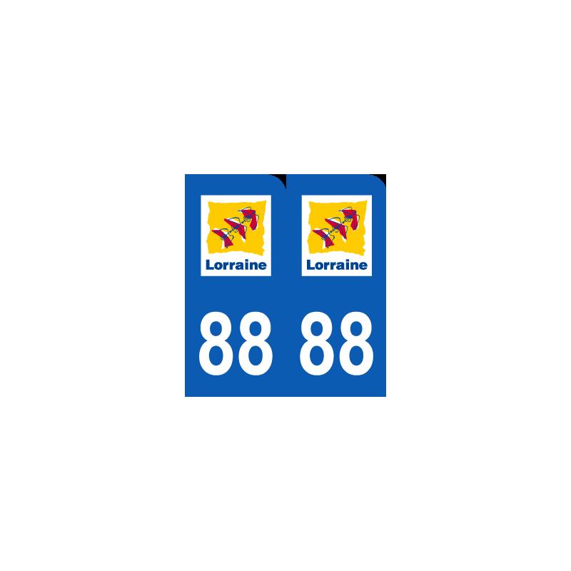 Département 88 Vosges ancien logo région lorraine