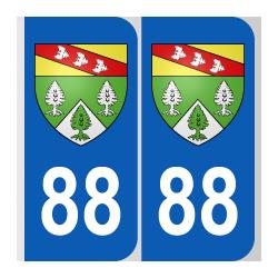 Département 88 Vosges blason logo région lorraine