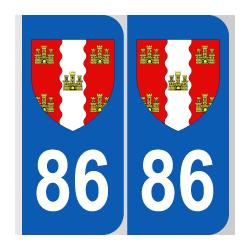 Département 86 Vienne blason logo poitou charentes