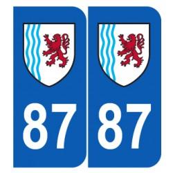 Département 87 Haute Vienne nouveau logo région nouvelle aquitaine