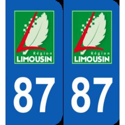 Département 87 Haute Vienne ancien logo region limousin