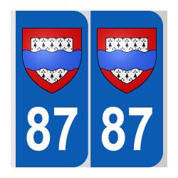 Département 87 Haute Vienne blason logo region limousin