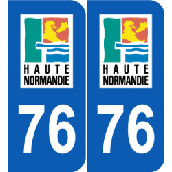 Département 76 Seine Maritime ancien logo haute normandie