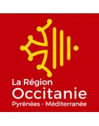 Sticker pour plaque d'immatriculation région et département Occitanie.