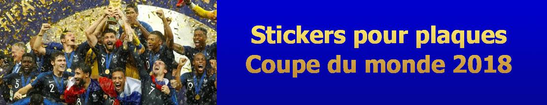 Autocollants pour plaques d'immatriculation Coupe du monde de football 2018